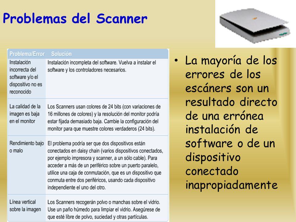Problemas del Scanner
