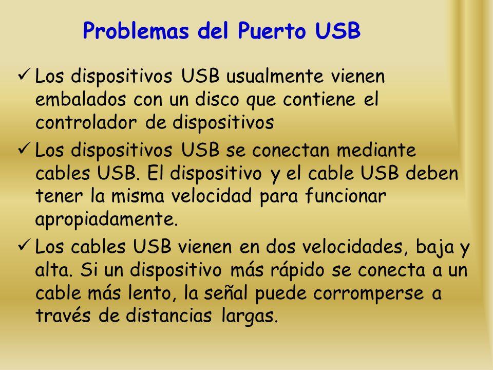 Problemas del Puerto USB