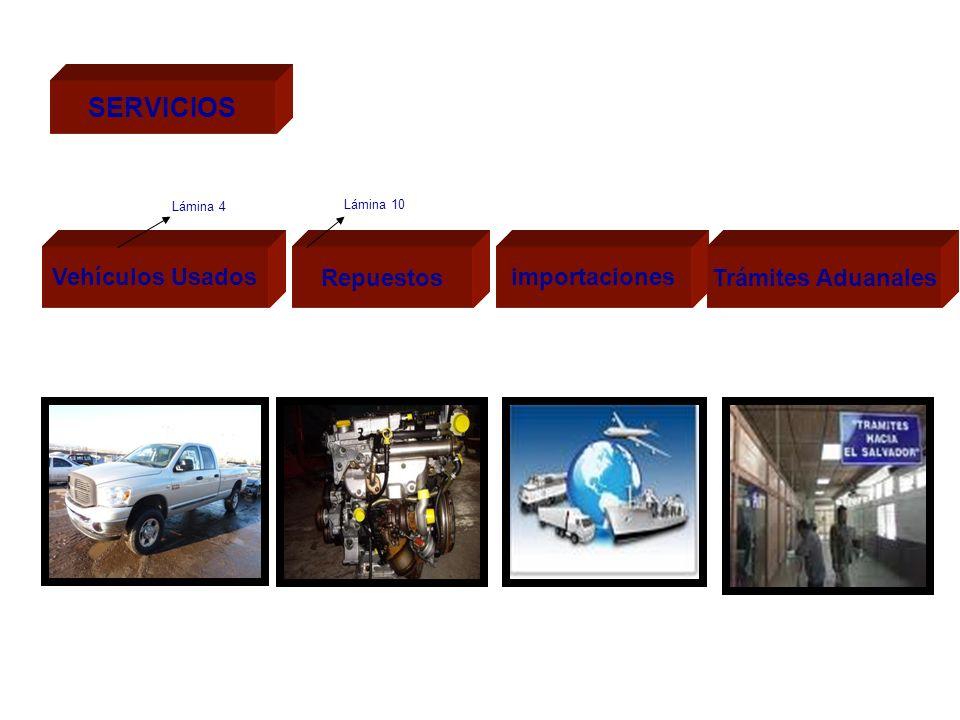 SERVICIOS Vehículos Usados Repuestos importaciones Trámites Aduanales