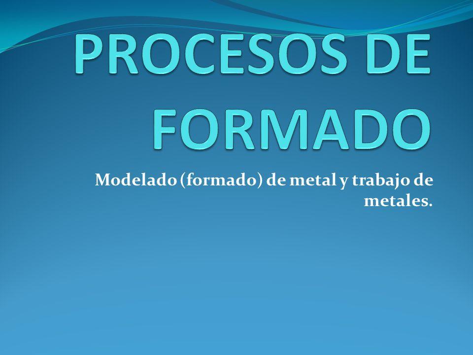 Modelado (formado) de metal y trabajo de metales.