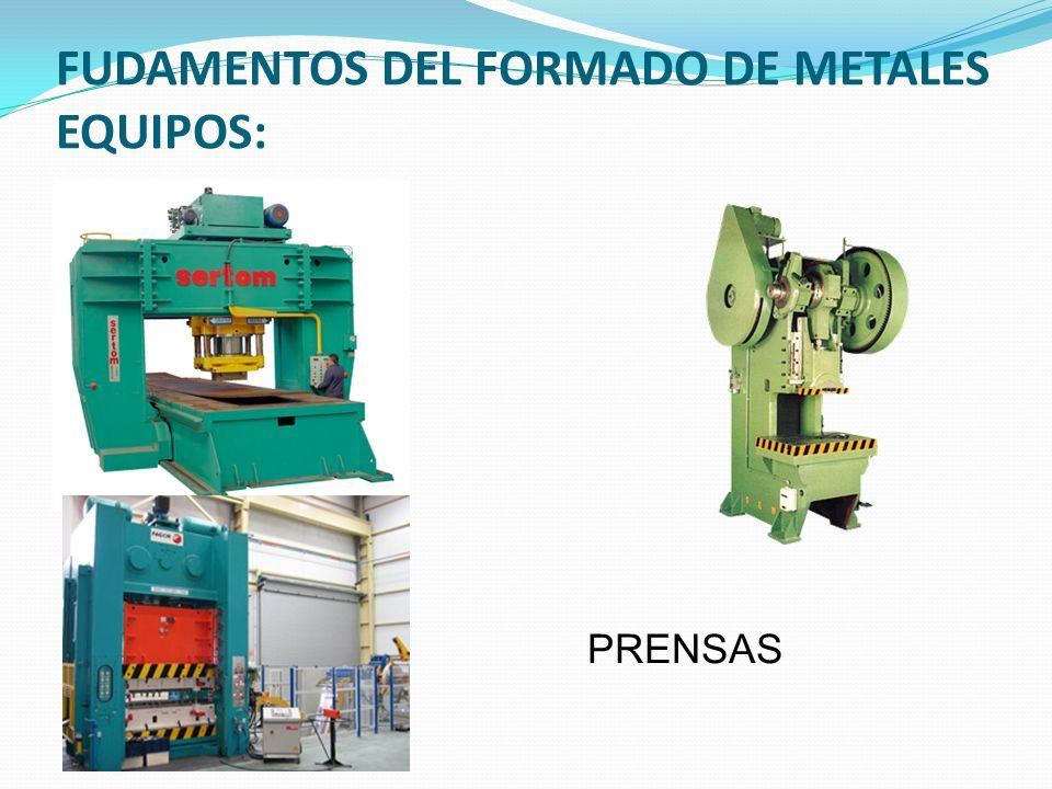 FUDAMENTOS DEL FORMADO DE METALES EQUIPOS: