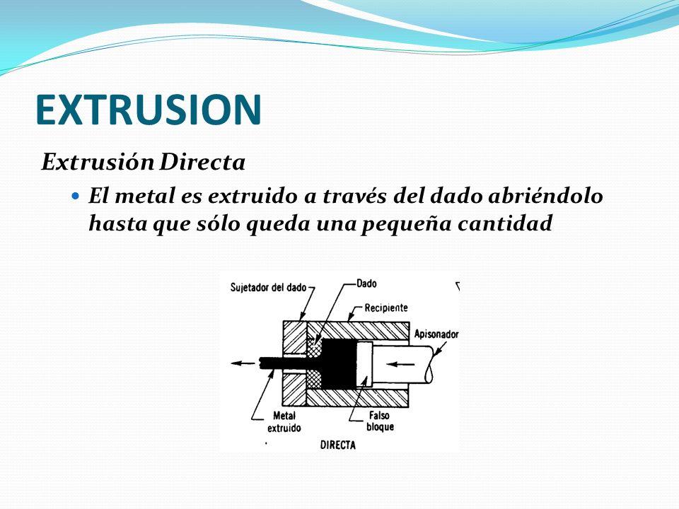 EXTRUSION Extrusión Directa