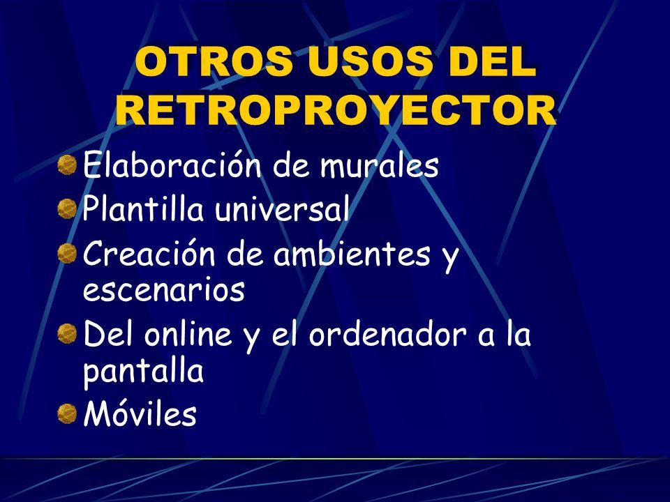 OTROS USOS DEL RETROPROYECTOR