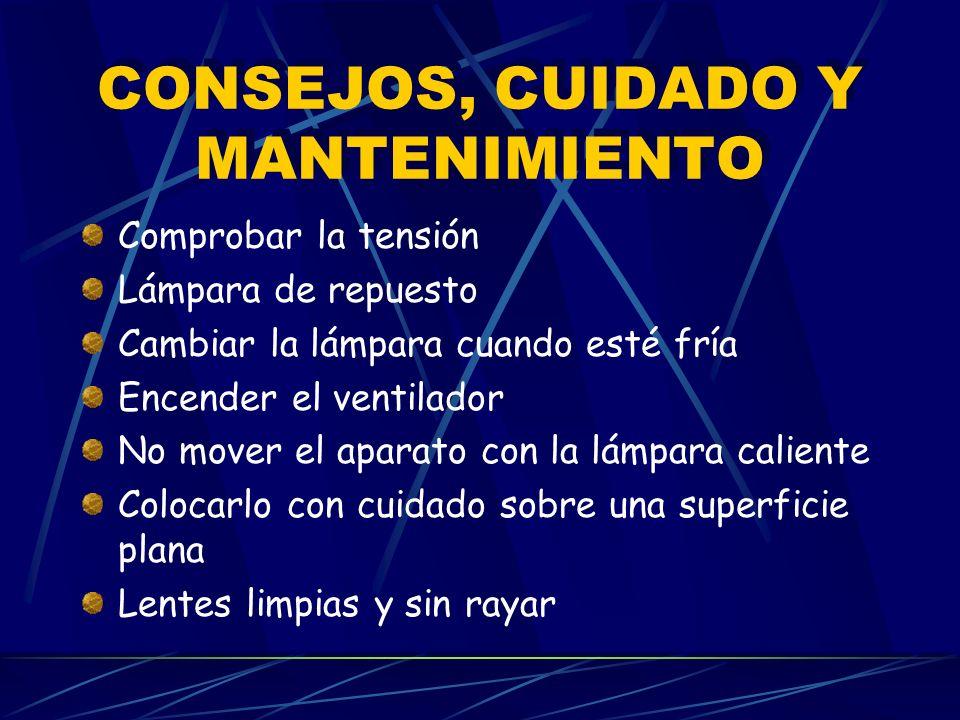 CONSEJOS, CUIDADO Y MANTENIMIENTO