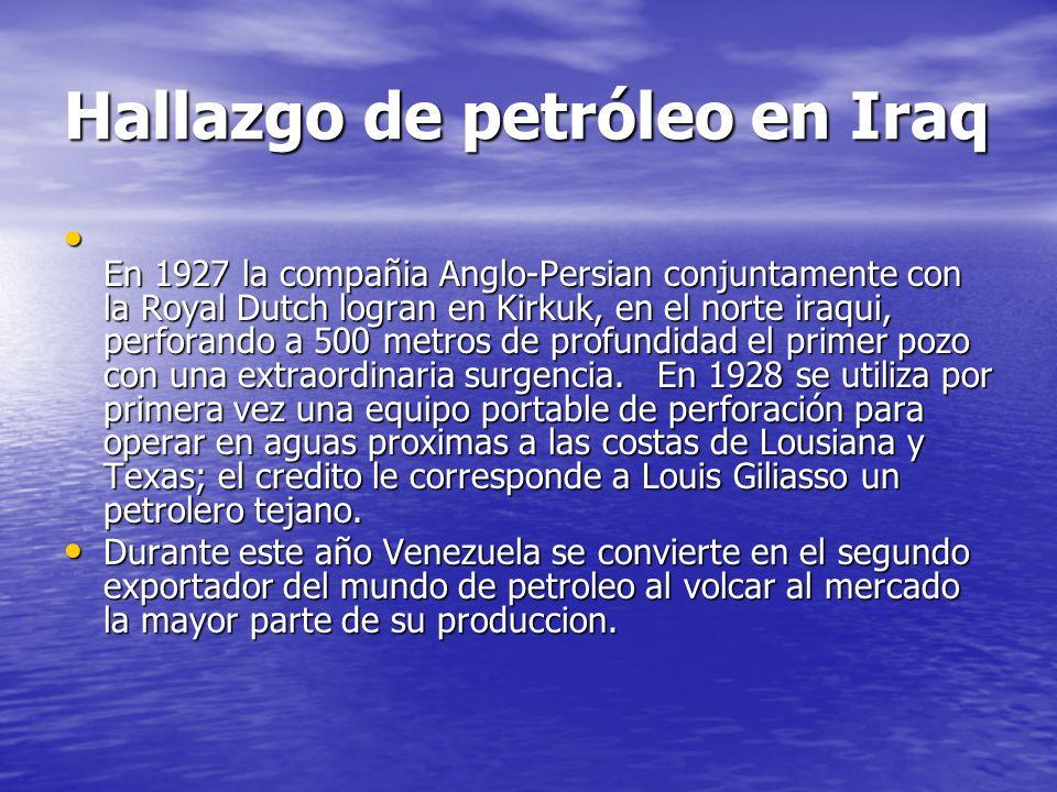 Hallazgo de petróleo en Iraq