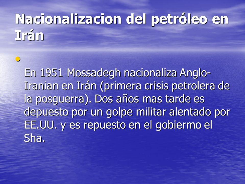 Nacionalizacion del petróleo en Irán