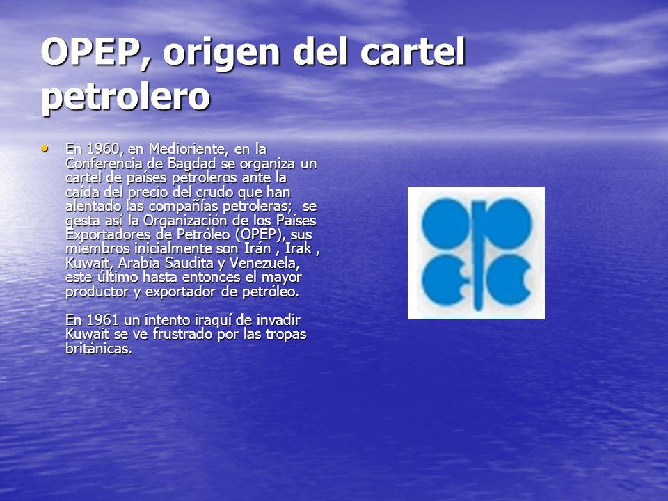 OPEP, origen del cartel petrolero