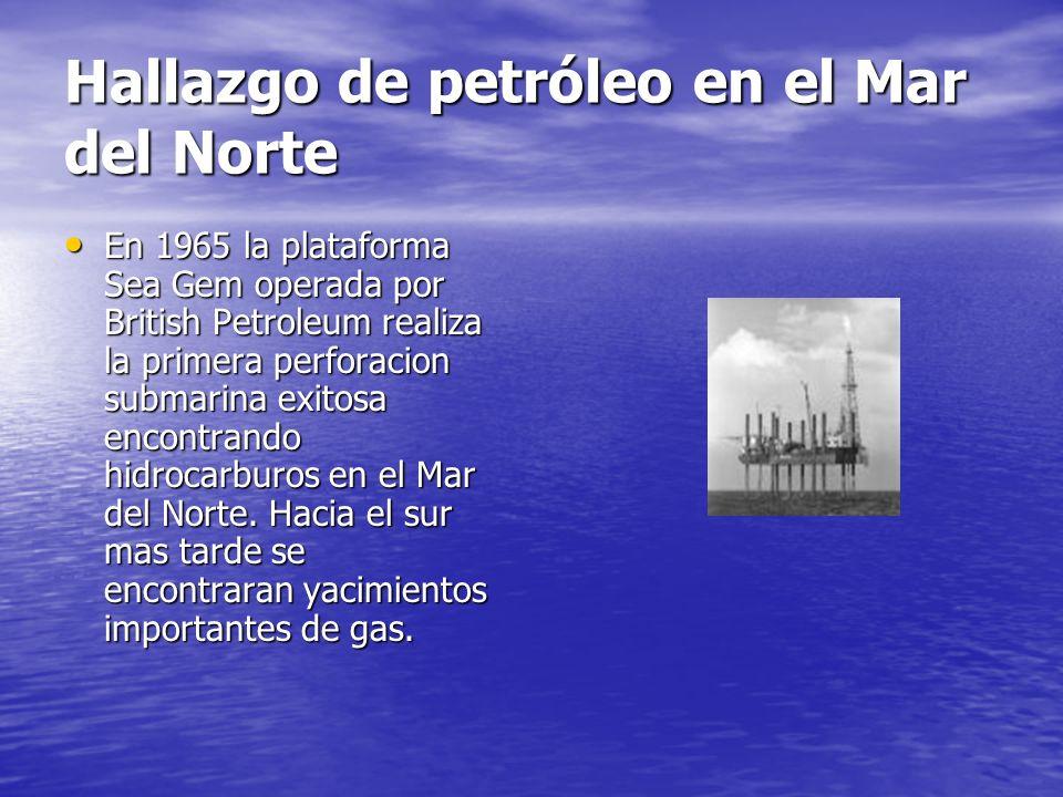 Hallazgo de petróleo en el Mar del Norte