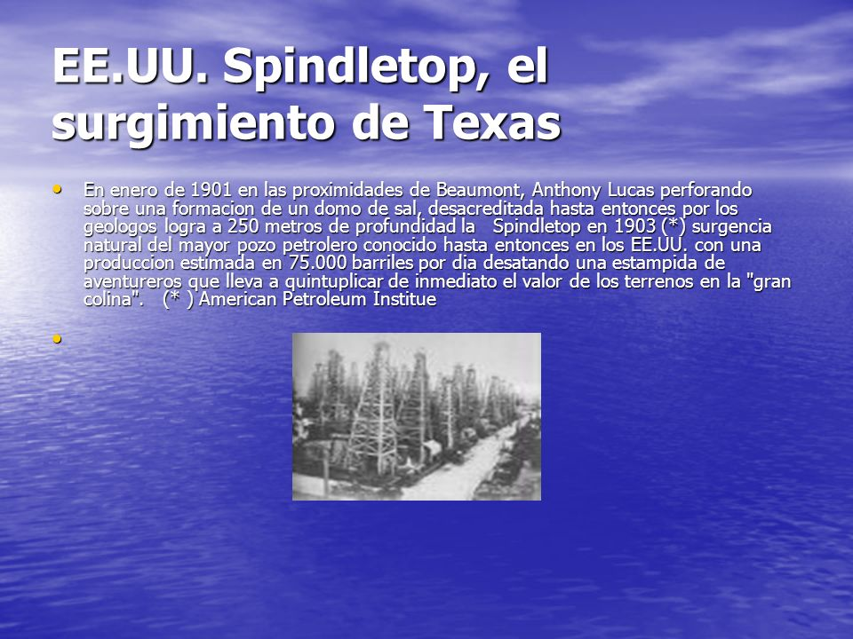 EE.UU. Spindletop, el surgimiento de Texas