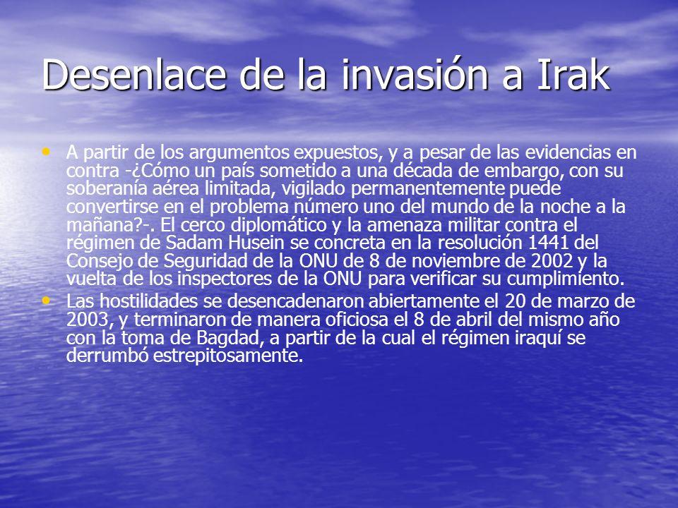 Desenlace de la invasión a Irak