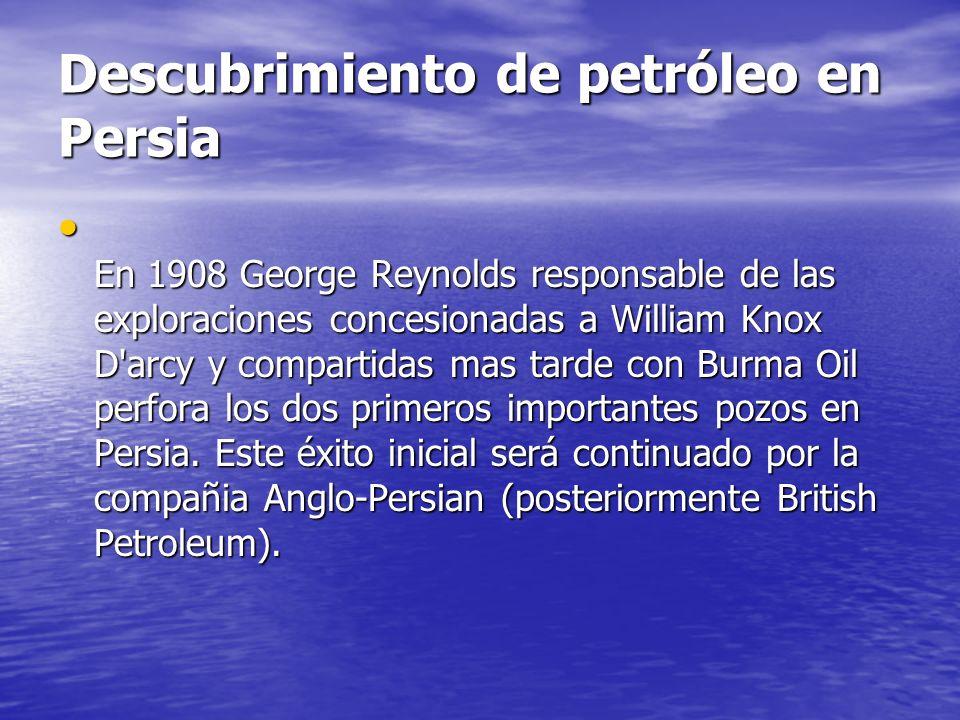 Descubrimiento de petróleo en Persia