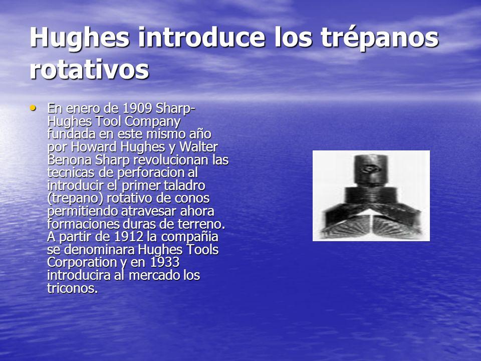 Hughes introduce los trépanos rotativos