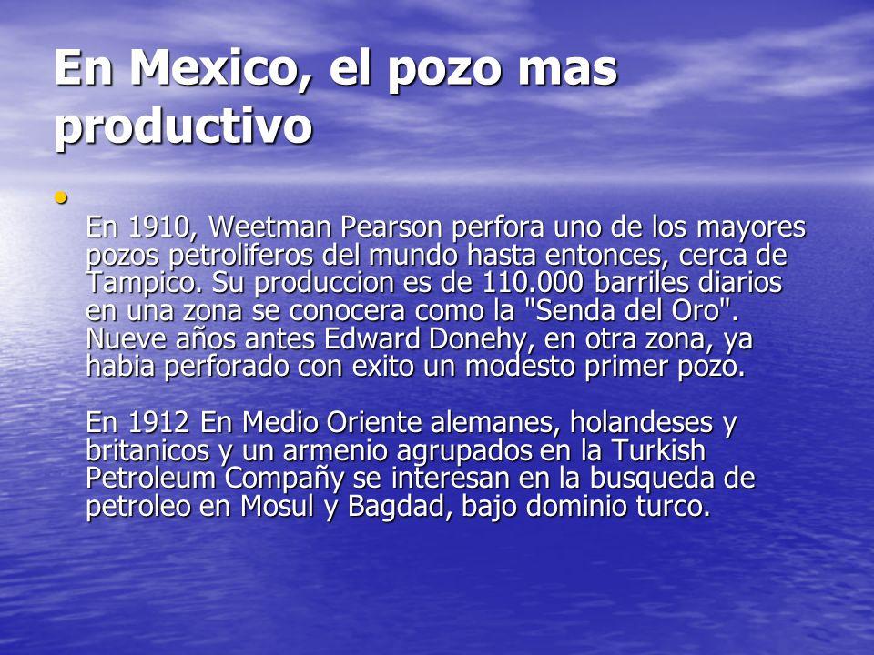 En Mexico, el pozo mas productivo