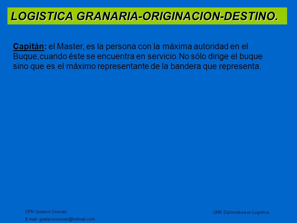 LOGISTICA GRANARIA-ORIGINACION-DESTINO.