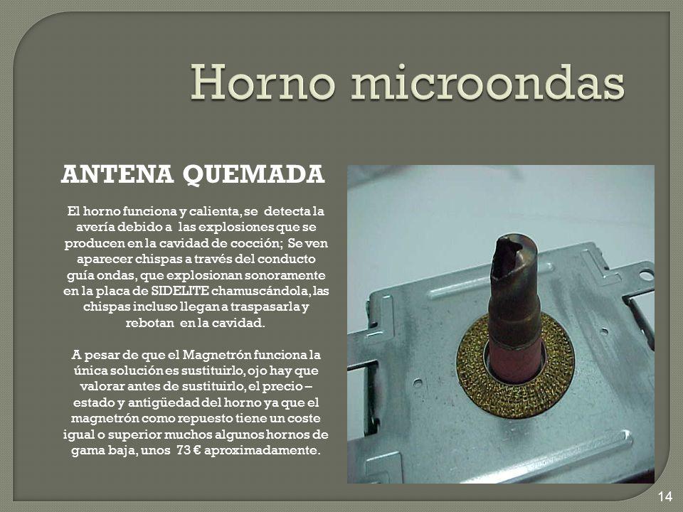Horno microondas ANTENA QUEMADA