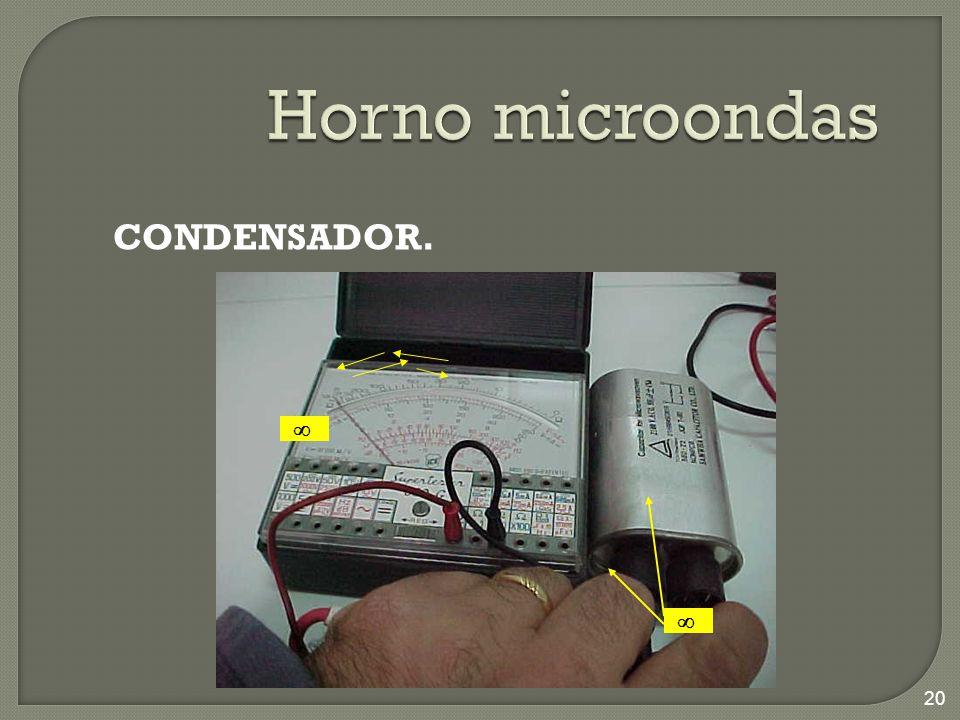 Horno microondas CONDENSADOR.  