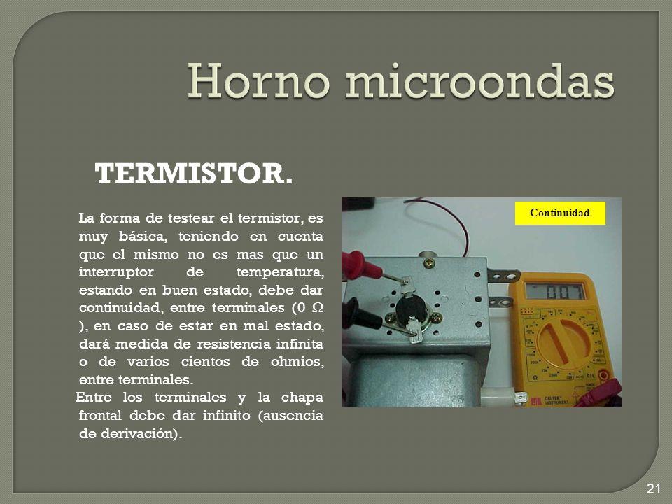 Horno microondas TERMISTOR.