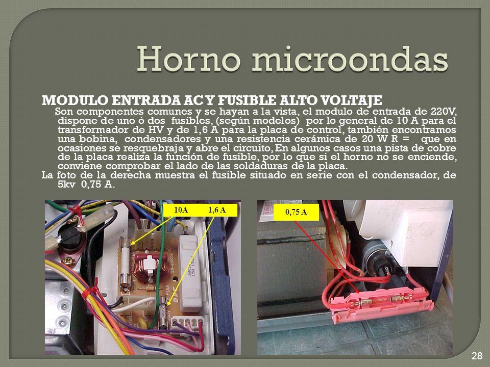 Horno microondas MODULO ENTRADA AC Y FUSIBLE ALTO VOLTAJE