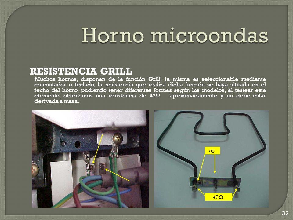 Horno microondas RESISTENCIA GRILL 