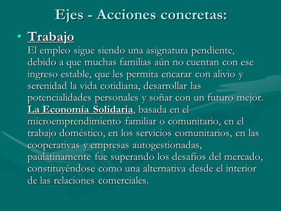 Ejes - Acciones concretas: