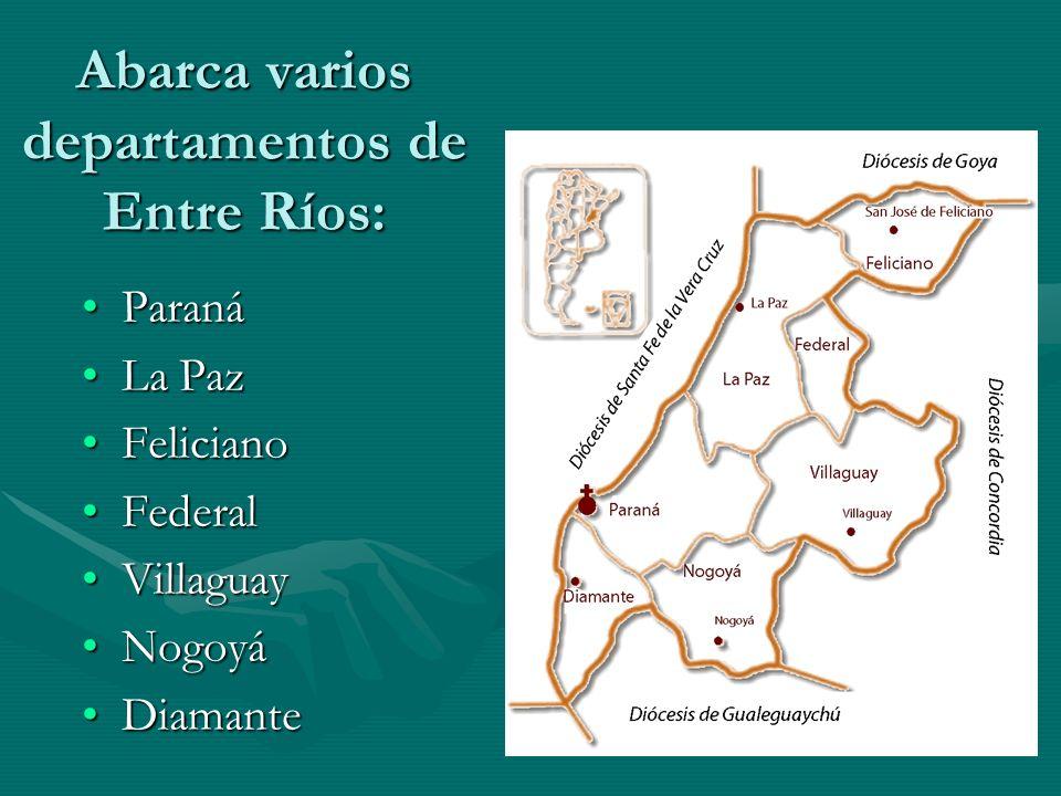 Abarca varios departamentos de Entre Ríos: