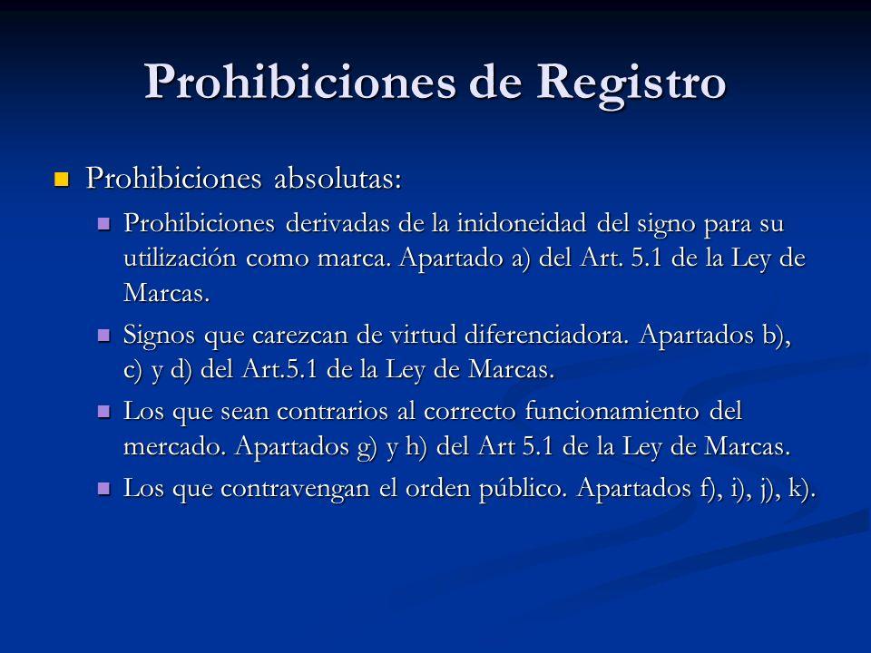 Prohibiciones de Registro