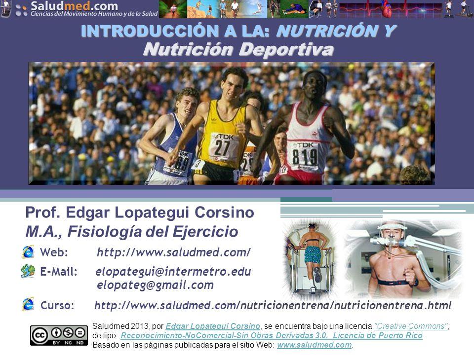 INTRODUCCIÓN A LA: NUTRICIÓN Y Nutrición Deportiva