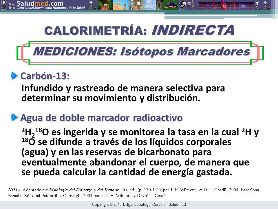 CALORIMETRÍA: INDIRECTA