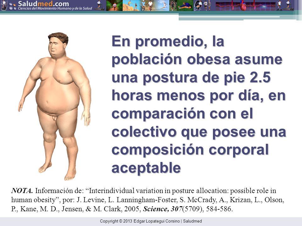 En promedio, la población obesa asume una postura de pie 2