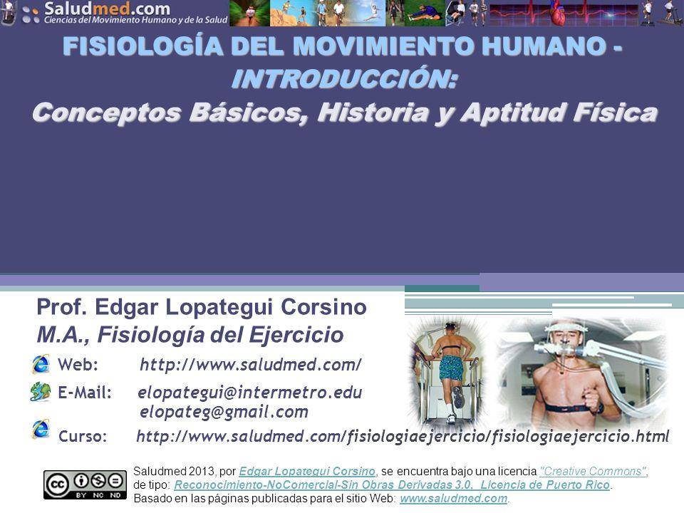 FISIOLOGÍA DEL MOVIMIENTO HUMANO - INTRODUCCIÓN: Conceptos Básicos, Historia y Aptitud Física