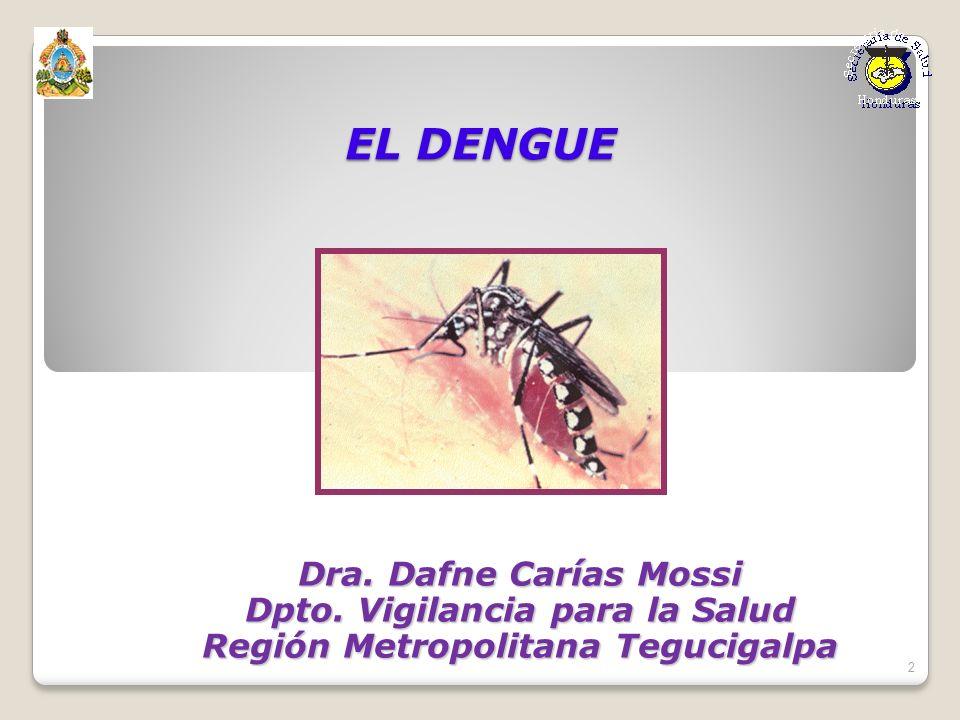Dpto. Vigilancia para la Salud Región Metropolitana Tegucigalpa