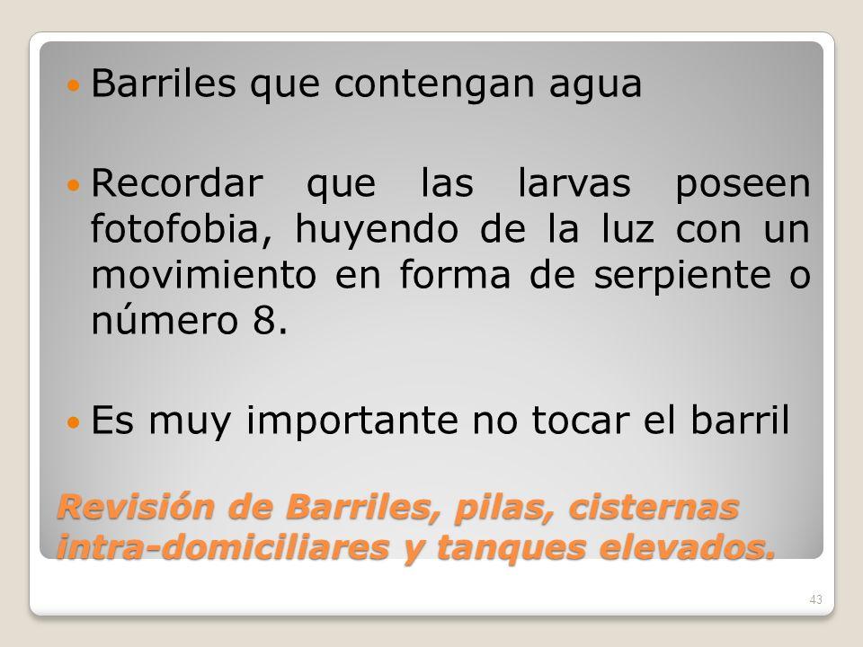 Barriles que contengan agua