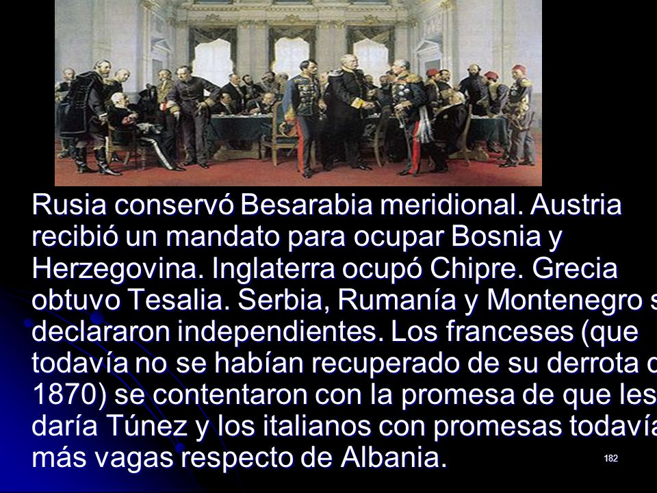 Rusia conservó Besarabia meridional