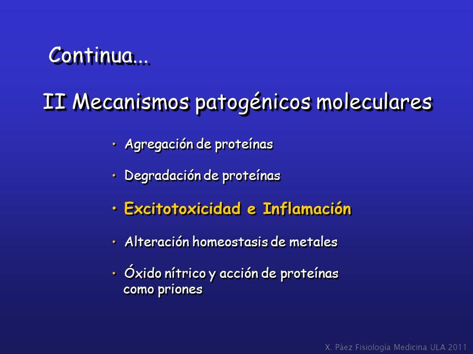 II Mecanismos patogénicos moleculares