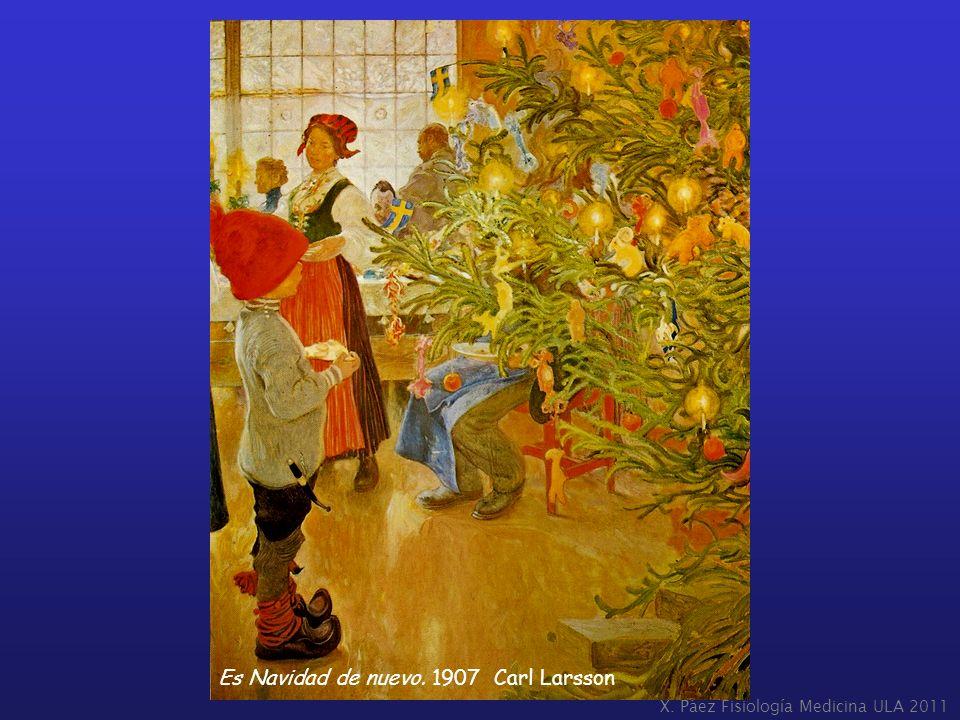 Es Navidad de nuevo. 1907 Carl Larsson