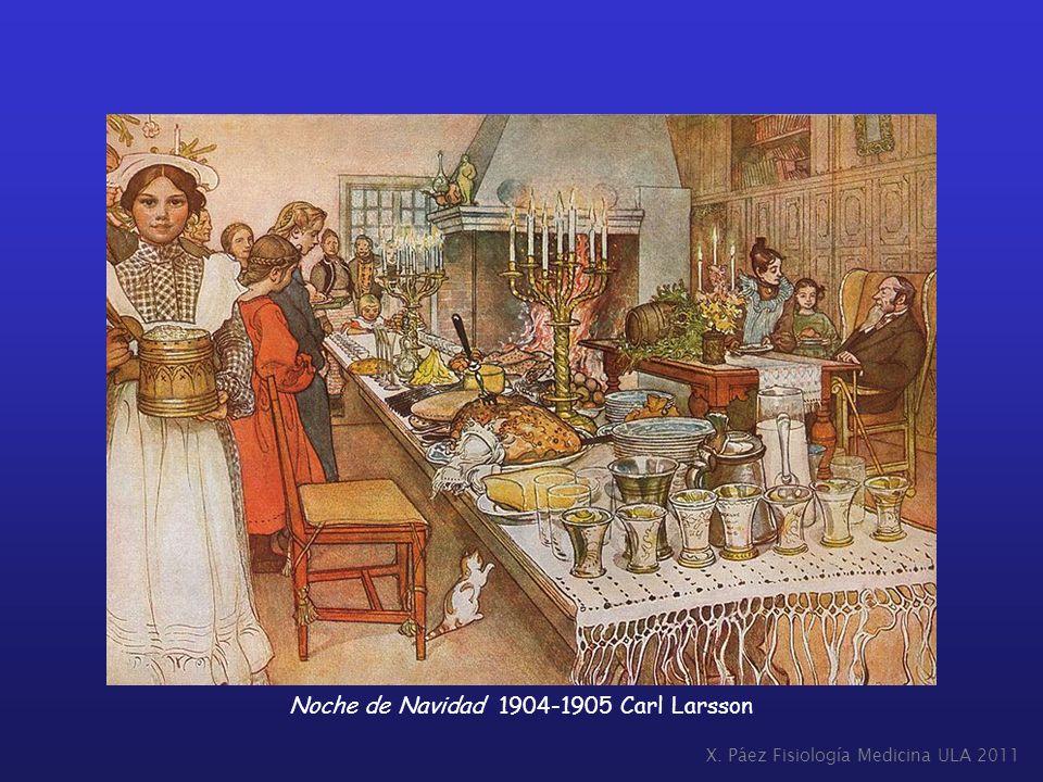 Noche de Navidad 1904-1905 Carl Larsson
