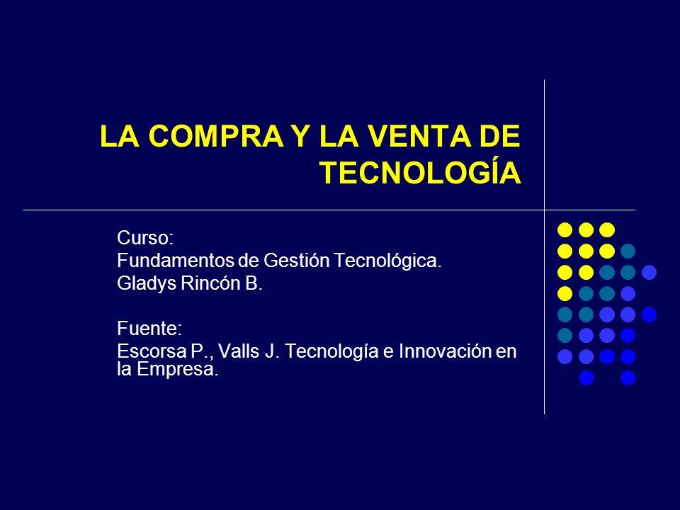 LA COMPRA Y LA VENTA DE TECNOLOGÍA