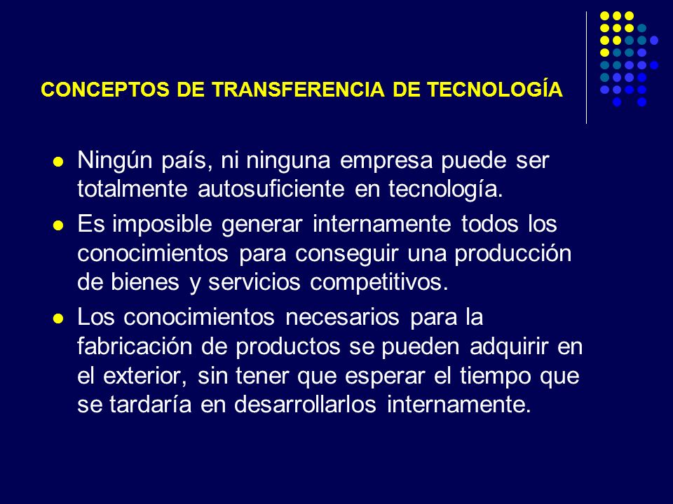CONCEPTOS DE TRANSFERENCIA DE TECNOLOGÍA