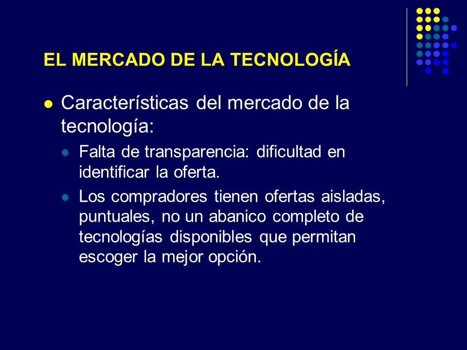 EL MERCADO DE LA TECNOLOGÍA
