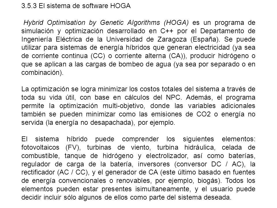 3.5.3 El sistema de software HOGA