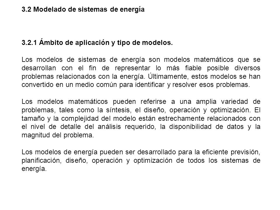 3.2 Modelado de sistemas de energía