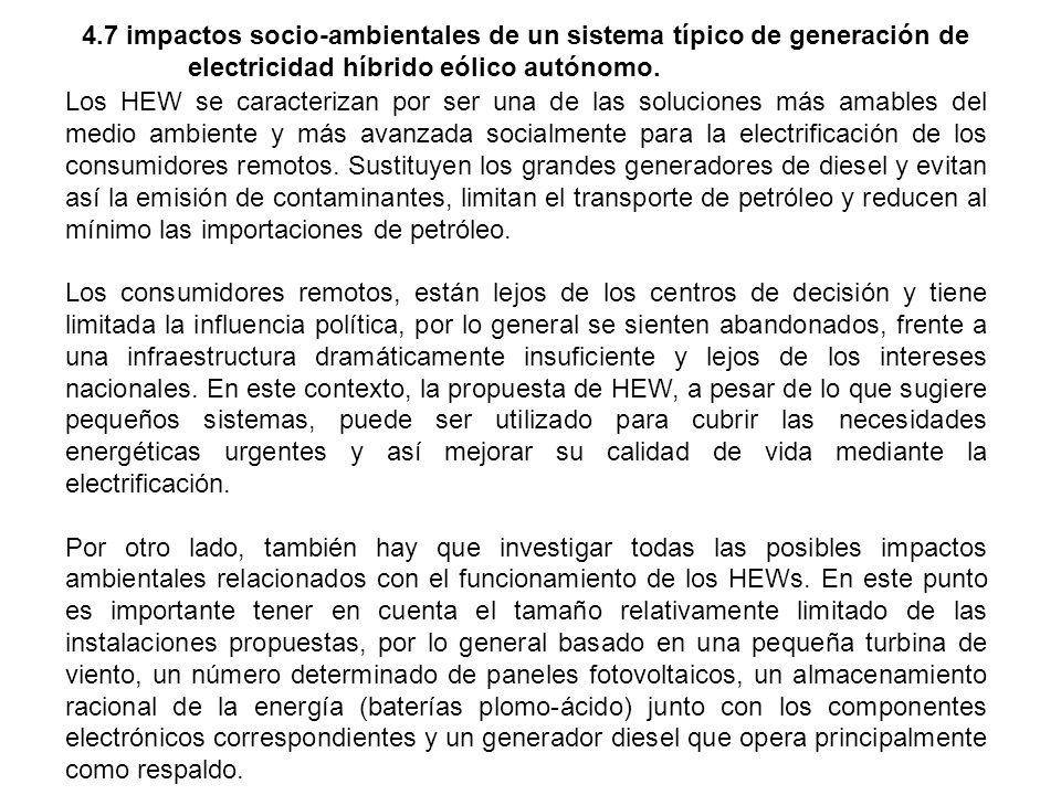 4. 7 impactos socio-ambientales de un sistema típico de generación de