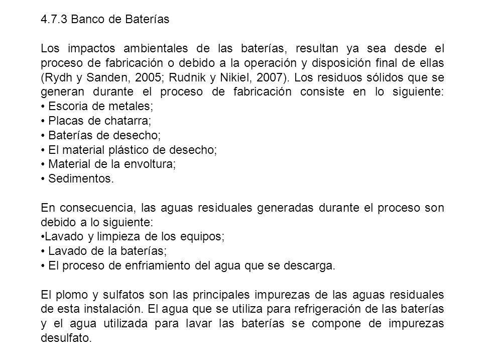 4.7.3 Banco de Baterías