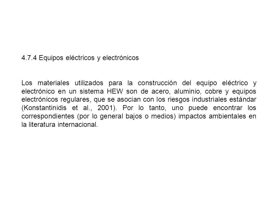 4.7.4 Equipos eléctricos y electrónicos