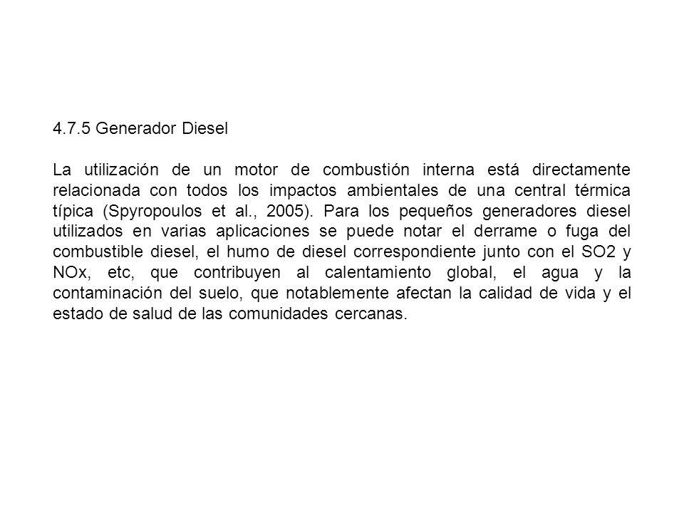 4.7.5 Generador Diesel