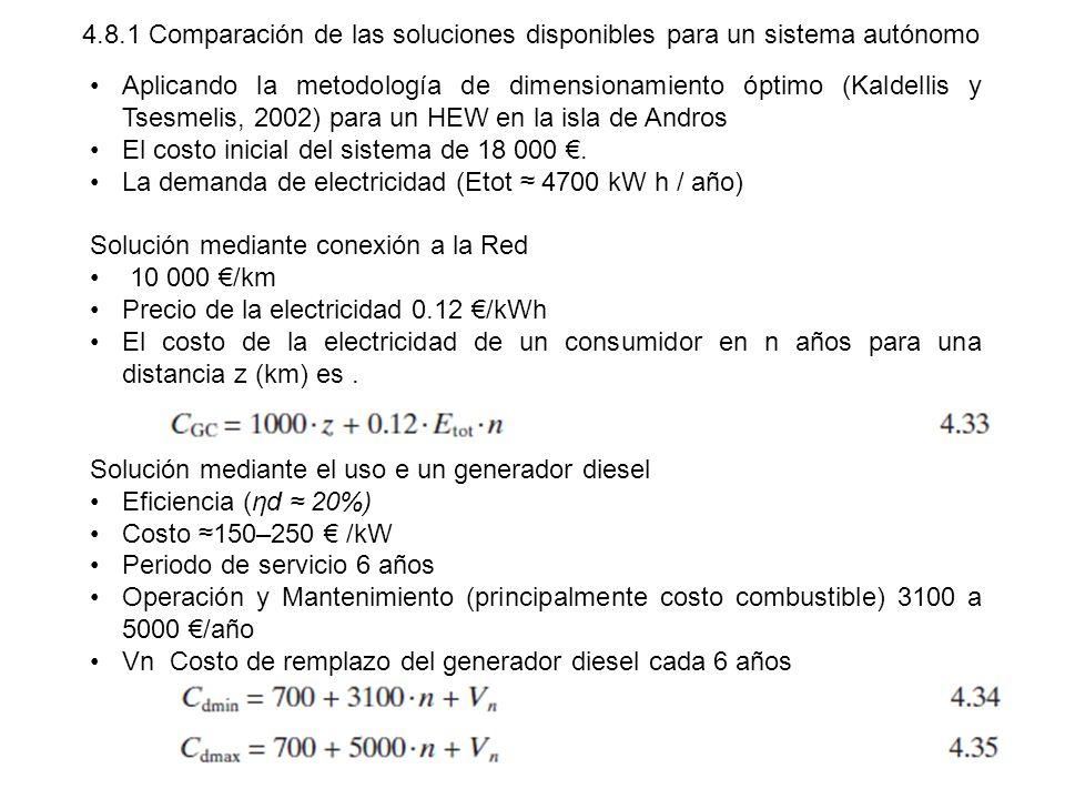 4.8.1 Comparación de las soluciones disponibles para un sistema autónomo