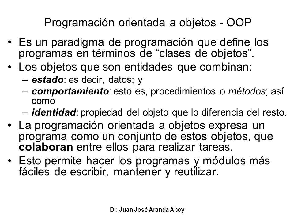 Programación orientada a objetos - OOP