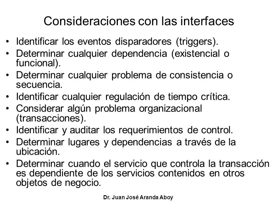 Consideraciones con las interfaces