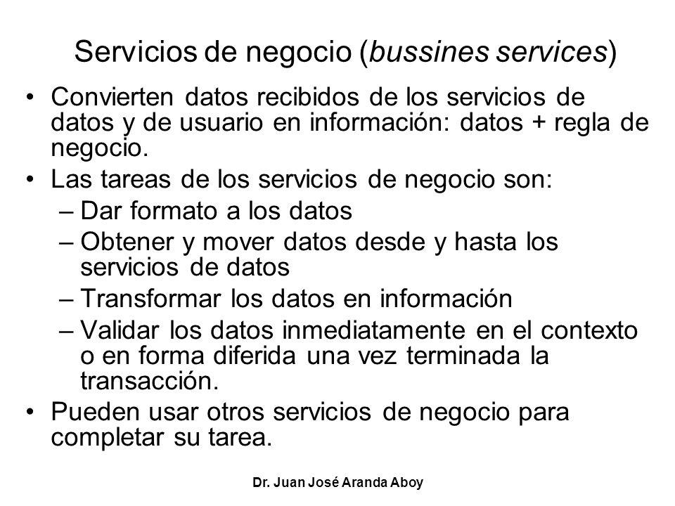 Servicios de negocio (bussines services)