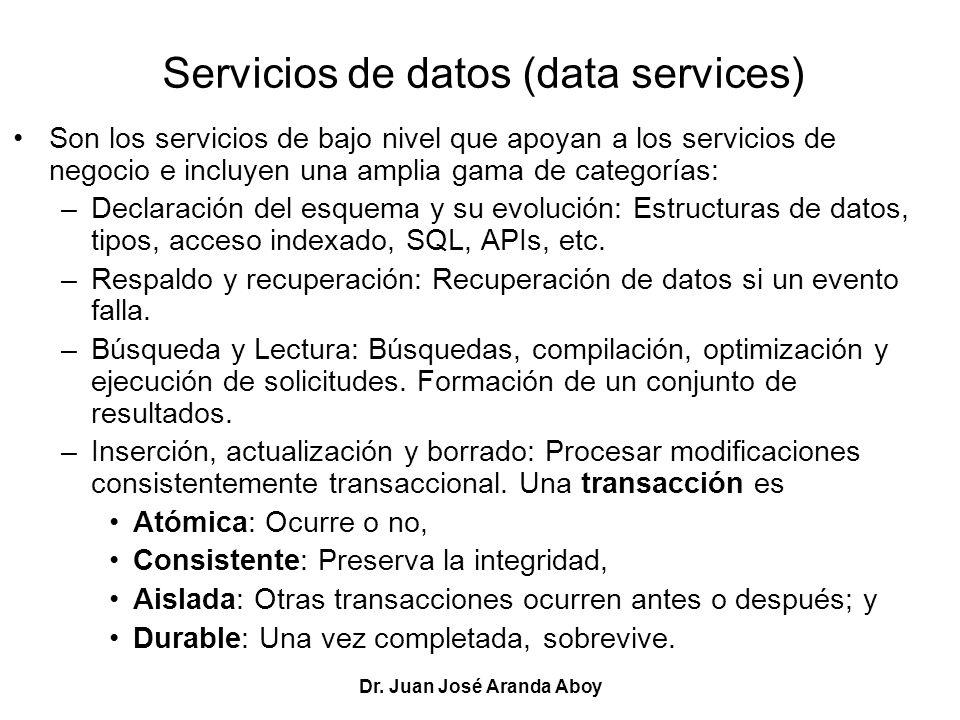 Servicios de datos (data services)